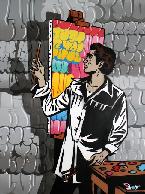 """40 """"X 30"""" EL ARTISTA GRAFFITI"""