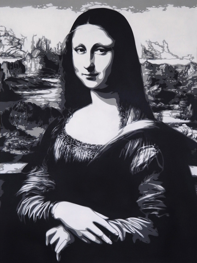 "40 ""X 30"" MONA LISA MONOCHROME"