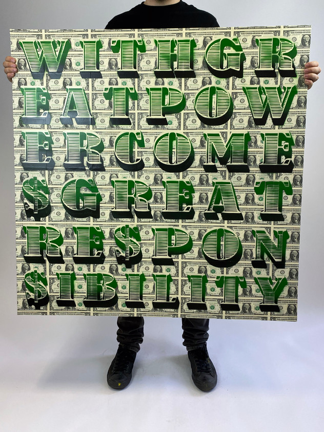 "40 ""X 40"" MED STOR POWER DOLLAR"