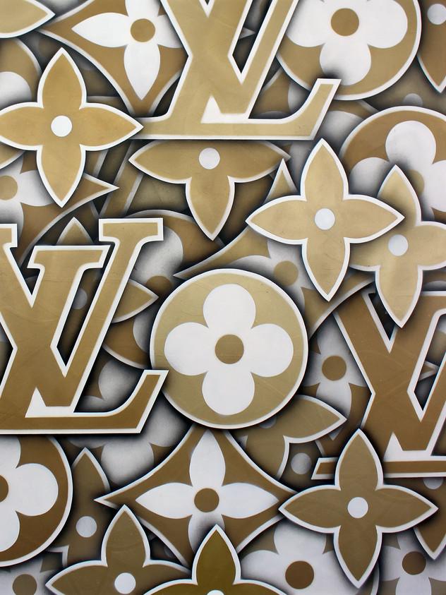"48 ""X 48"" LOUIS VUITTON PATTERN OURO"