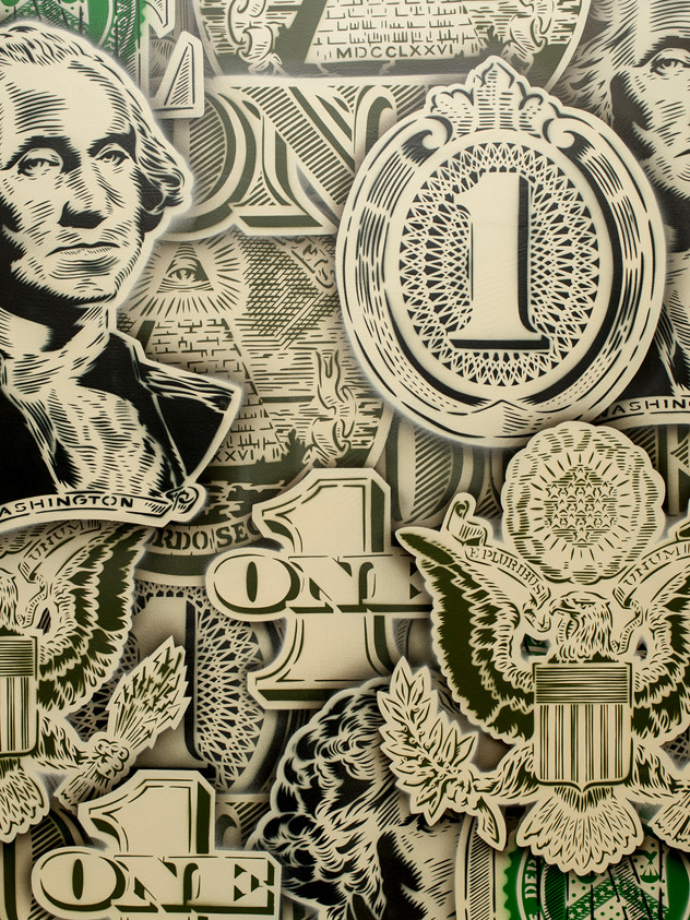 """48 """"X 36""""달러 지폐"""