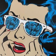 48 x 48 Zoll Scream Reflections Blau