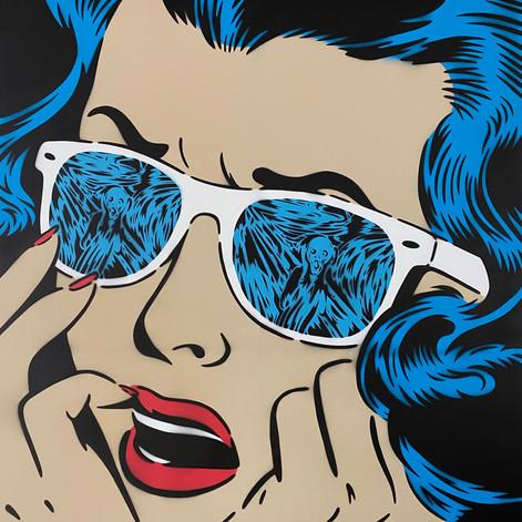 48 x 48 pulgadas Scream Reflections Azul