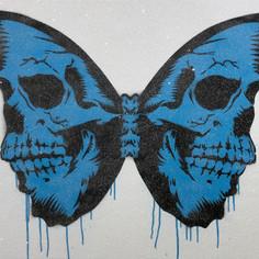 30 x 24 Zoll Skullerfly Diamond Dust Blue