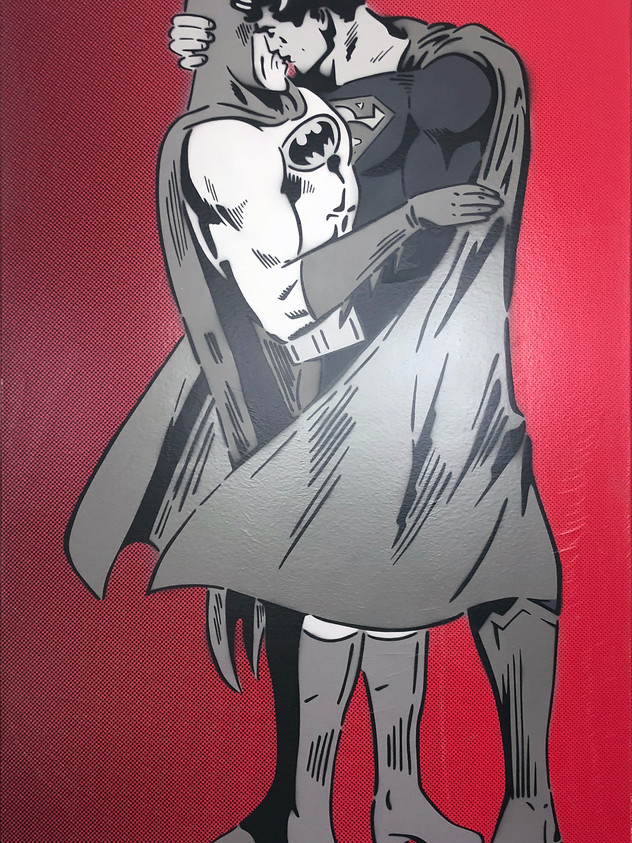 """48"""" X 30"""" BETWEEN THE CAPES MONOCHROME RED"""