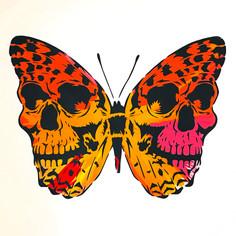 30 x 30 Zoll Spin Painting Skullerfly Herbst