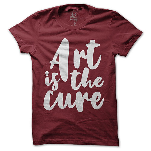 Art Is The Cure Burgundy T-Shirt