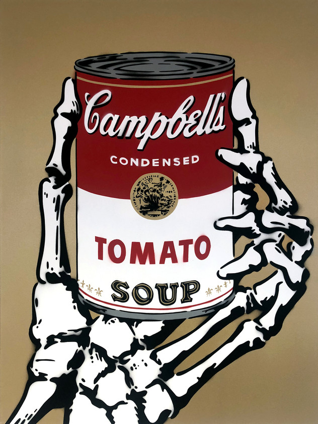 """40"""" X 30"""" CAMPBELLS TOMATO SOUP GOLD"""