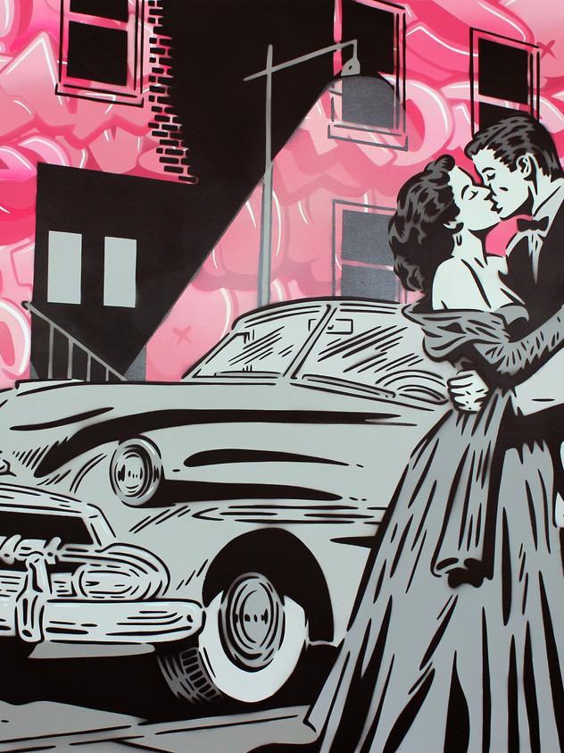 """48"""" X 36"""" STREETLIGHT ROMANCE"""