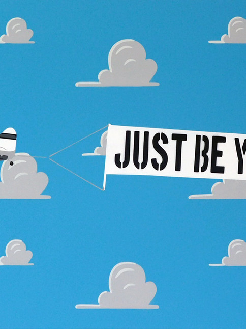 """36"""" X 24"""" JUST BE YOU TIFUL PLANE BLUE"""