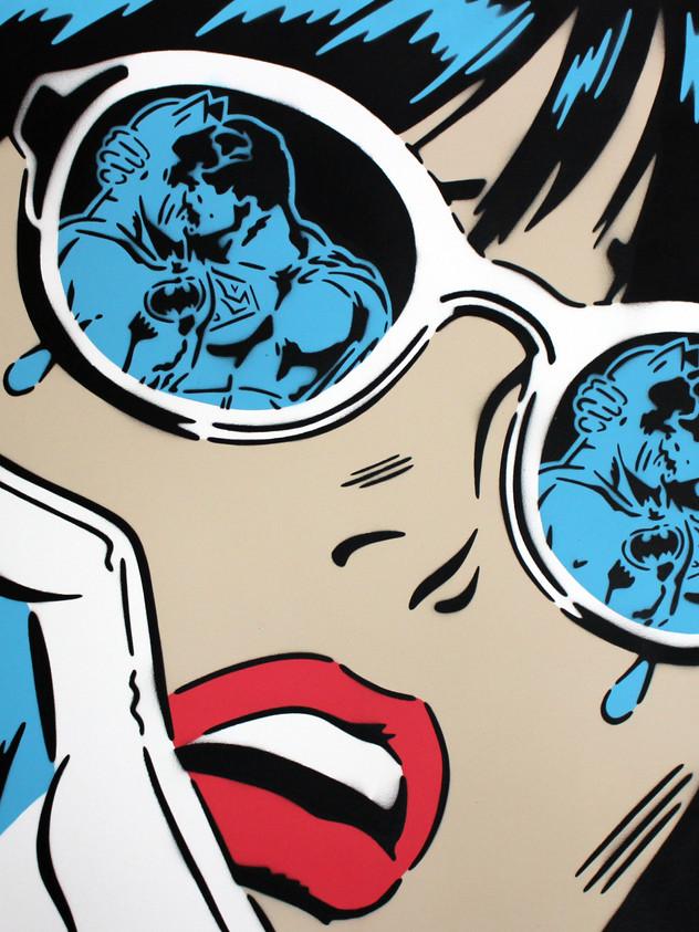 "40"" X 30"" REFLECTIONS BLUE LENS"