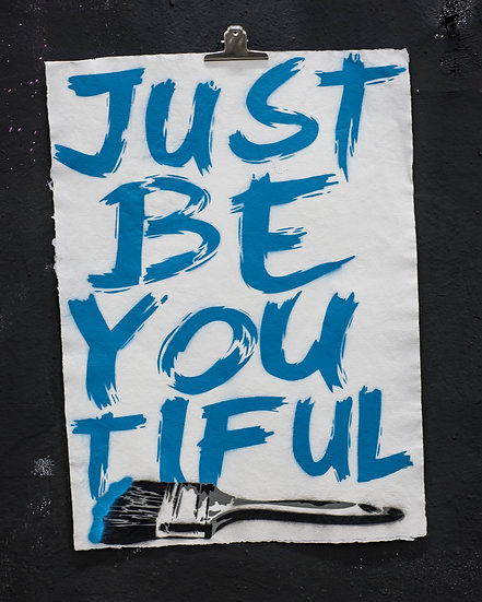JUST BE YOU TIFUL BLUE PAPER EDITION OF 5