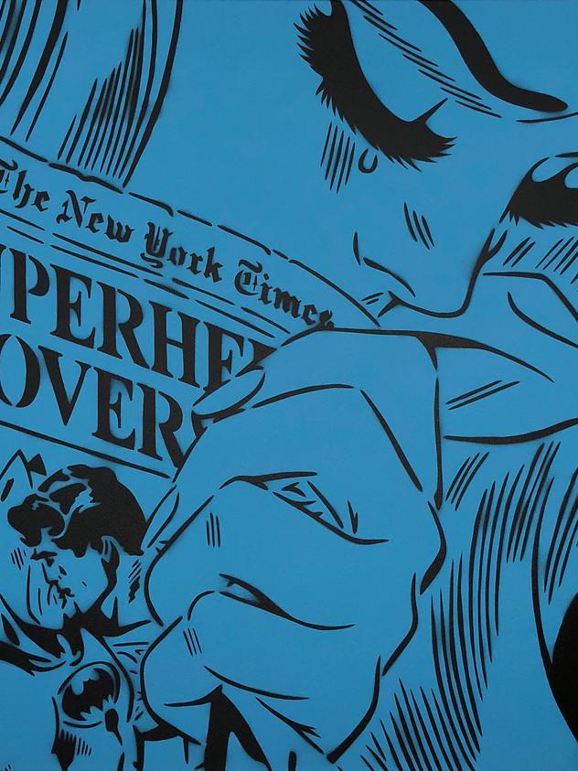 "30 ""X 30"" NEW YORK TIMES BLUE"