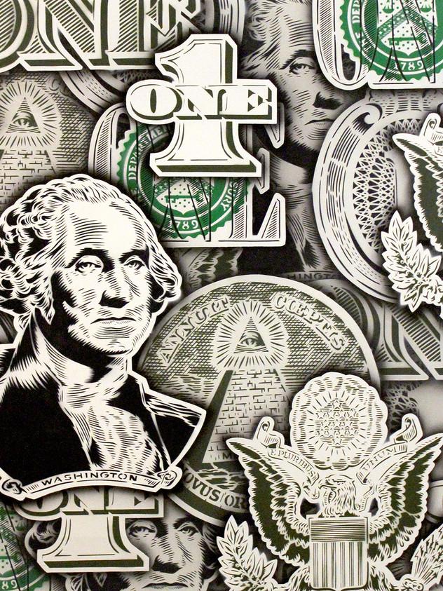 """48"""" X 48""""美元的鈔票"""