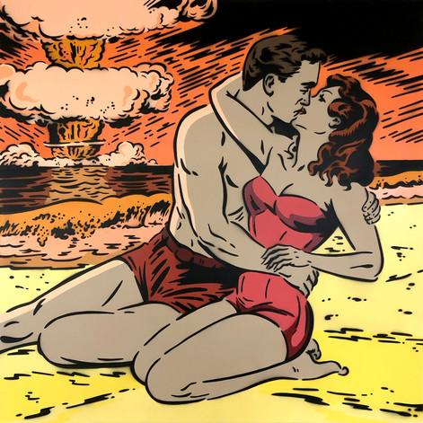 Romance nuclear de 36 x 36 pulgadas