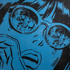 36 x 36 Zoll Reflexionen Diamond Dust Blue