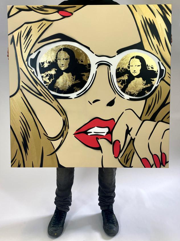 "36"" X 36"" MONA LISA REFLECTIONS GOLD"