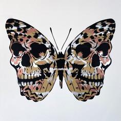 30 x 30 Zoll Warhol Camo Skullerfly Metalics