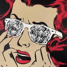 48 x 48 Zoll Scream Reflections Rot / Chrom