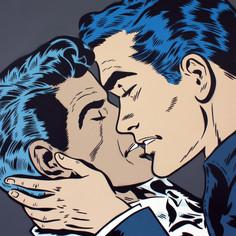 40 x 40 Zoll Der Kuss