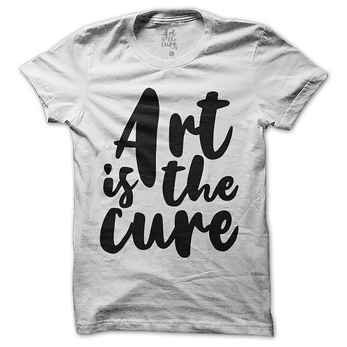 Art Is The Cure White T-Shirt