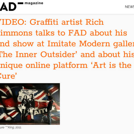TALKS TO FAD ABOUT HIS 2ND SHOW AT IMITATE MODERN