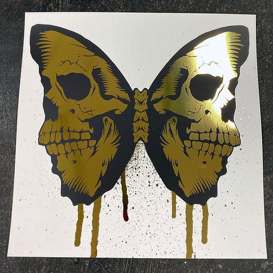 29.7 x 29.7 cm Skullerfly Gold Foil