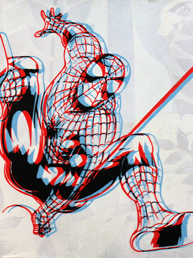 "40"" X 40"" 3D蜘蛛俠"