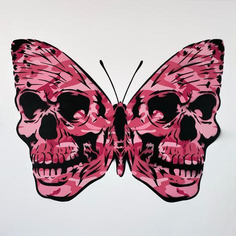 30 x 30 pulgadas Warhol Camo Skullerfly Pink