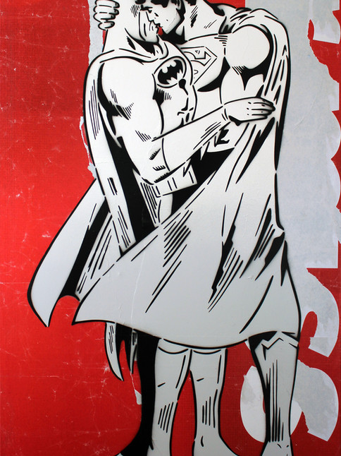"""48"""" X 30"""" BETWEEN THE CAPES RED BILLBOARD"""