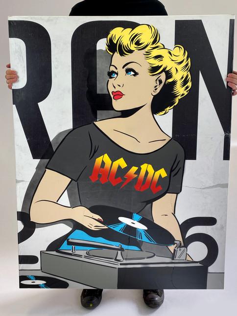 """48 """"X 36"""" ACDC DJ"""