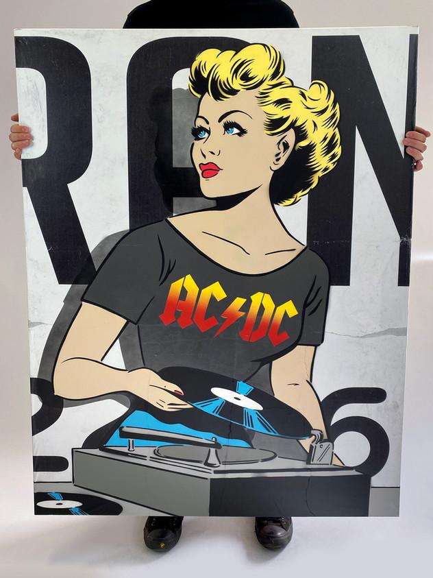 """48"""" X 36"""" ACDC DJ"""