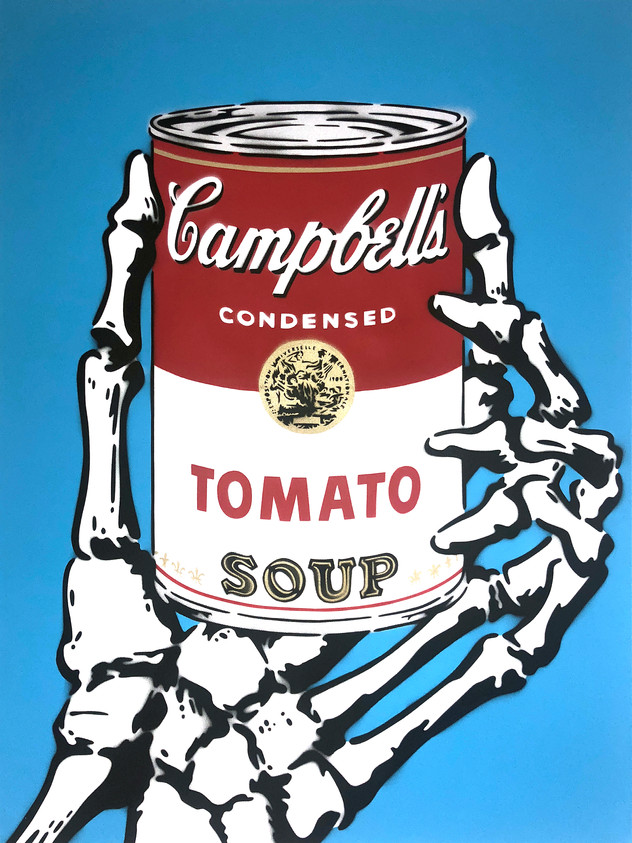 "40 ""X 30"" CAMPBELLS TOMATEN SUPPE BLAU"