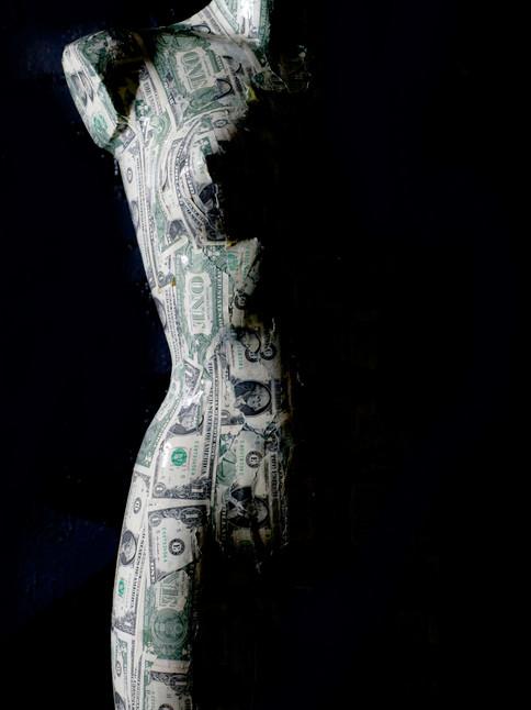 Tés de tamaño natural busto femenino edición dólar