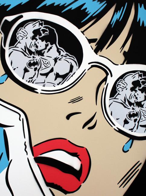 """LENTE CROMADA REFLEXIONES DE 30 """"X 30"""""""