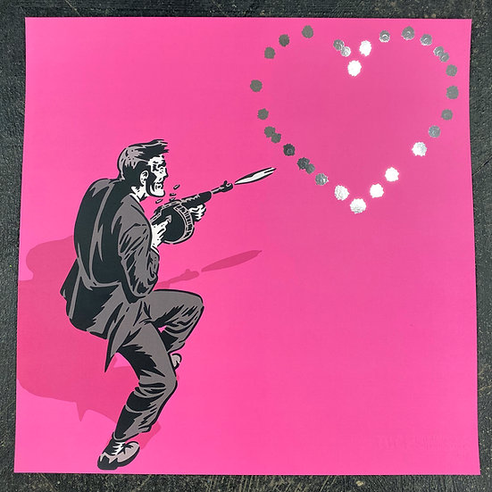 29.7 x 29.7 cm 44 Caliber Love Letter Pink / Chrome Foil