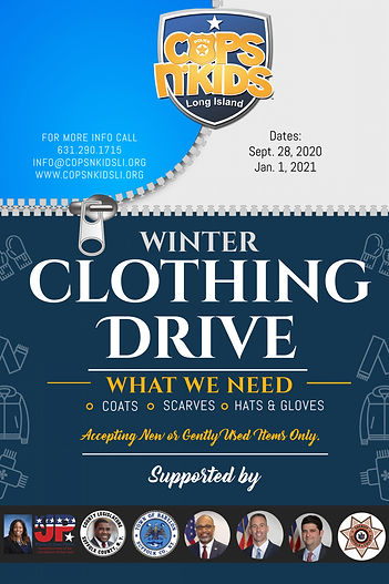 CNKLI Winter Clothing Drive Poster Side