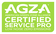 AGZA American Green Zone Alliance Certified Service Pro Low Noise Zero Emissions
