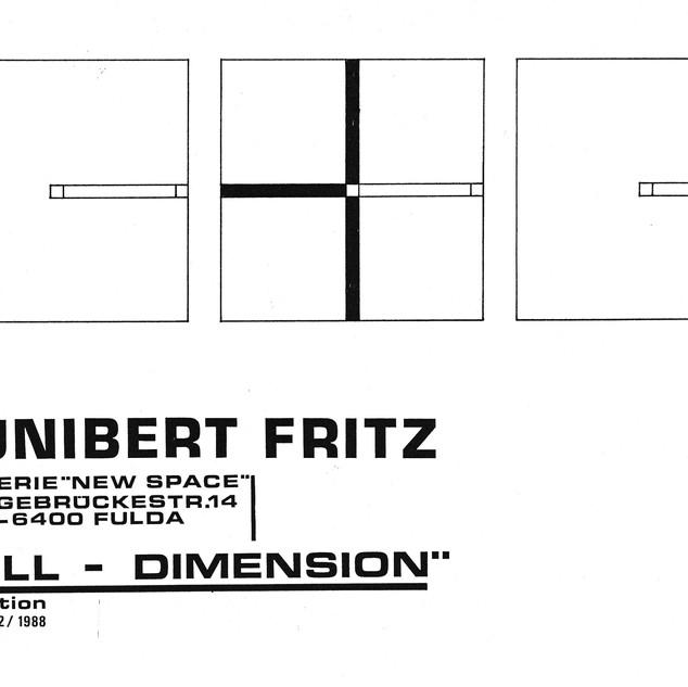 Ausstellung Null Dimension Fulda 1988