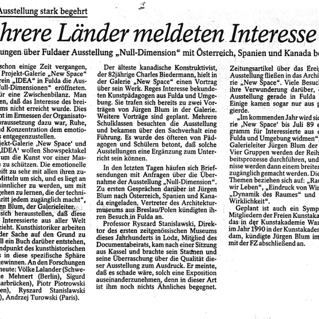 Fuldaer Zeitung Null Dimension