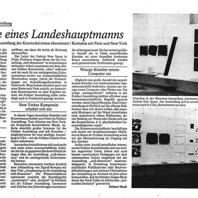 Null Dimension Fuldaer Zeitung Auswertung