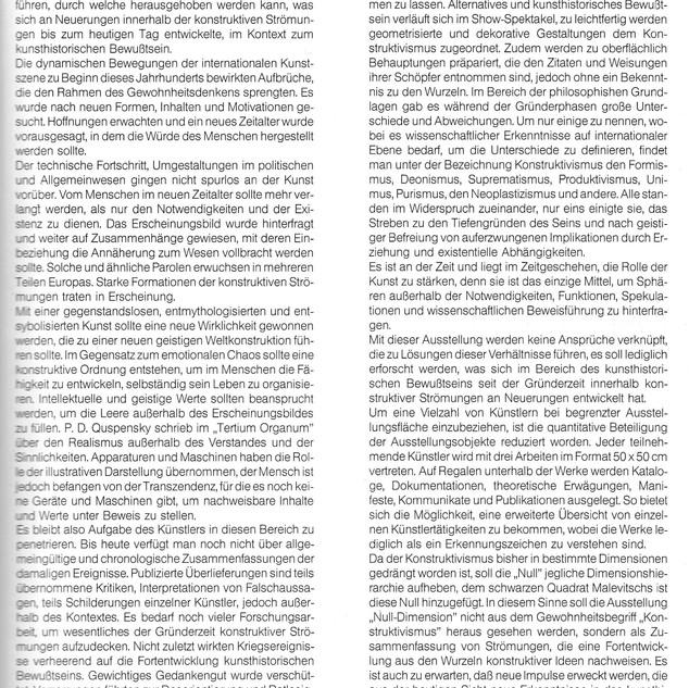 Null Dimension Text Blum