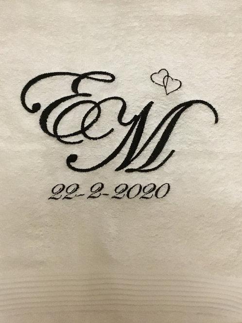 Håndklæde m. monogram