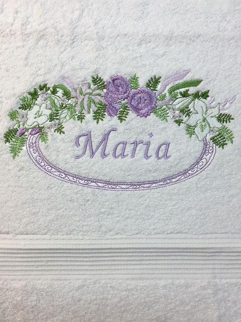 Håndklæde m. blomsterkrans nr. 2