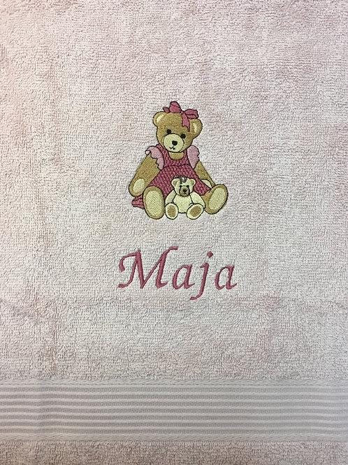 Håndklæde m. pigebamse