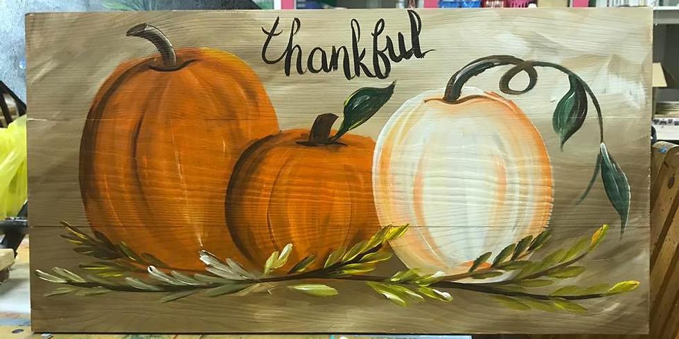 10/16 Wooden Pallet Pumpkin