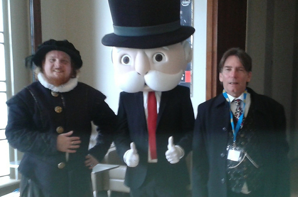 Mr Shakespeare with Mr Monopoly and John Ford