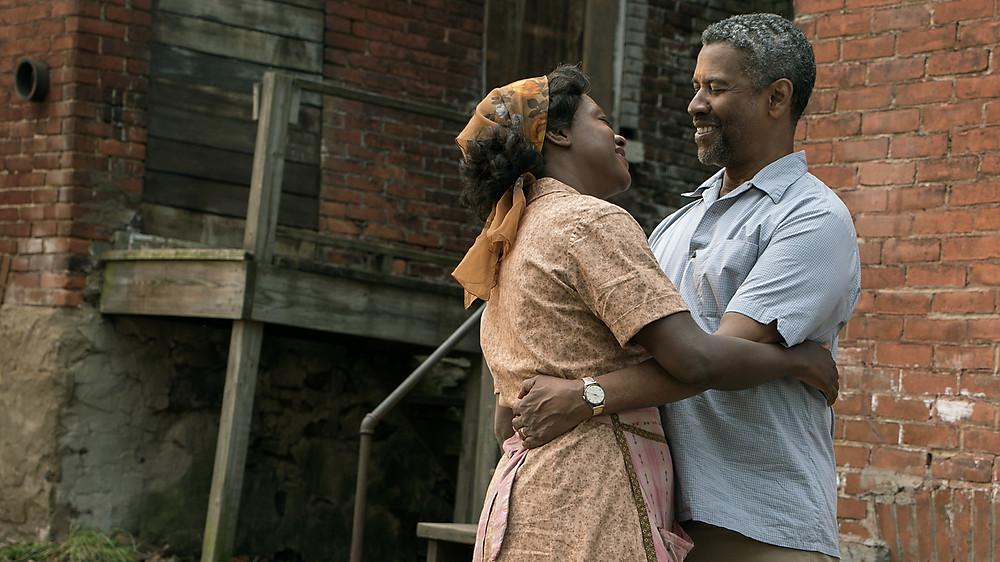 Viola Davis and Denzel Washington in Fences (2010)