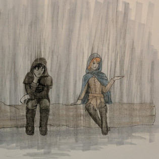 Astra and Louko in the Rain