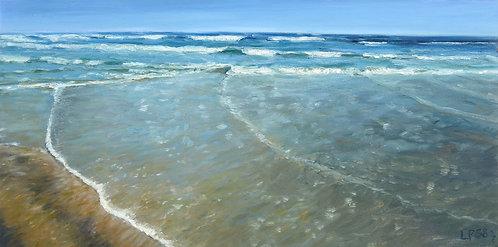 Cross Sea, 12x24x2 inches